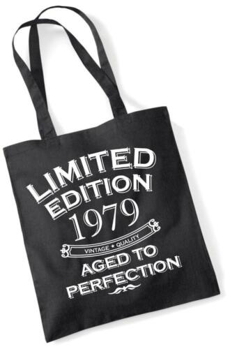 40th Birthday Gift Bag Tote Shopping Limited Edition 1979 Aged To Perfection Mam