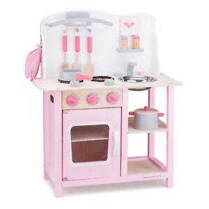 Spielküche Kinderküche Holz Rosa Pink Mit Zubehör Holzspielzeug