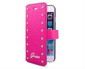 ETUI-FOLIO-ROSE-GUESS-STUDDED-COLLECTION-PROTECTION-RABAT-CLOUTEE-IPHONE-6-6S