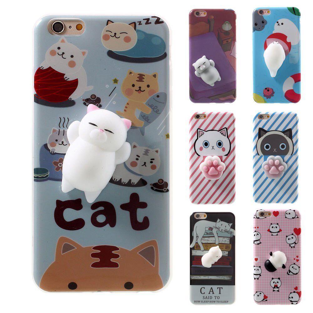 Squishy 3d cat phone case - Squishy 3d Soft Silicone Cat Panda Tpu Phone Case Cover For Iphone 6splus 7 Plus