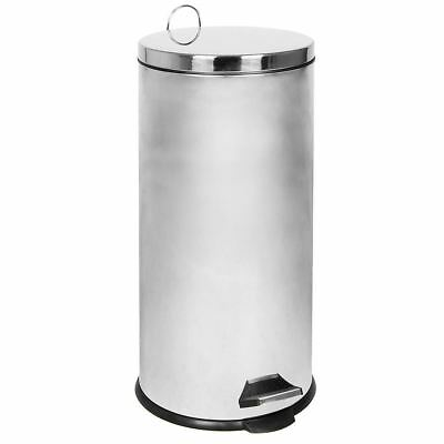 30 Litre Stainless Steel Pedal Kitchen Rubbish Waste Large Bin By Home Discount