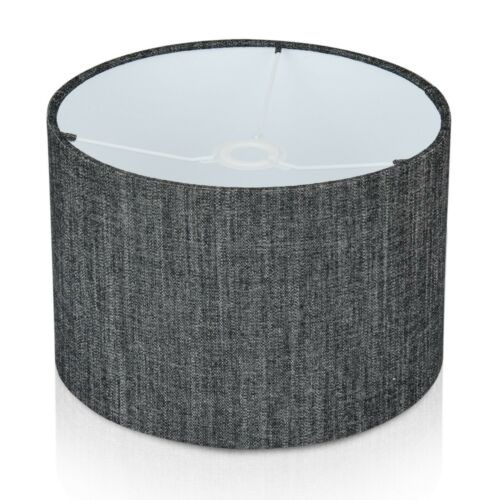 Table Lamp,Pendant Fryetts Monza Charcoal Linen Effect Lampshade Ceiling Shade