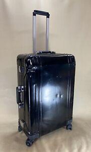 """Zero Halliburton Geo Black Aluminum Luggage 28"""" Spinner Hardshell Suitcase"""