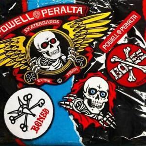 POWELL-PERALTA-BONES-Sew-Iron-on-Skateboard-Patch-Assorted-Logos