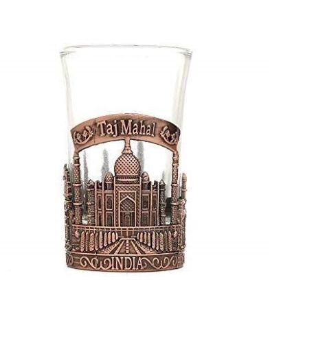 With Storage Box Taj Mahal India Shot Glass Perfect Gift And Travel Shot Glass