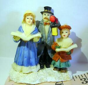 Victorian Family Christmas Village Carolers Mom Dad Daughter Figurine Decoration