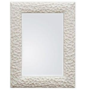 xxl design moderne miroir mural cadre 117x87 blanc en exclusivit woe ebay On miroir xxl design