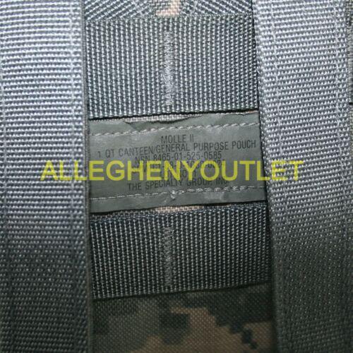 "US Military ACU 1 QT Canteen Pouch MOLLE 1 Quart GP Pouch 8/"" x 3/"" x 5/"" NOS"