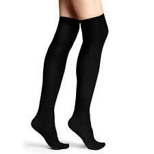 Womens Silky Thermal Knee High Socks Winter Ladies Fleece Lined Black 200 Denier
