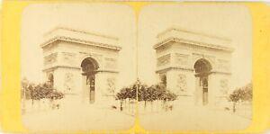 Francia Parigi ARCO Da Triomphe, Foto Stereo Vintage Albumina PL62L5