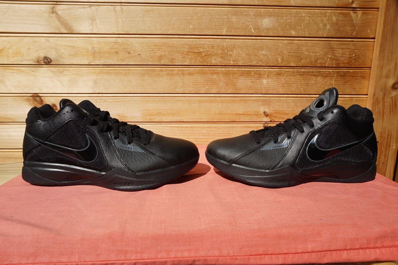 2018 Nike KD 3 Blackout Black Dark Grey Sz 8 (L923) 417279-002