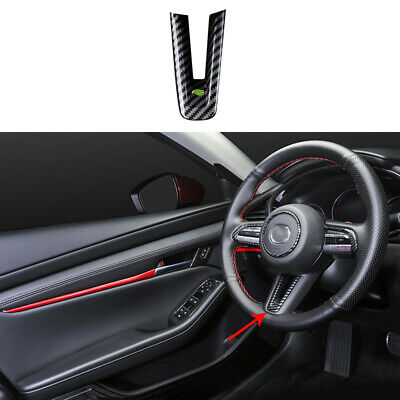 Fit For Mazda 3 Axela 2020-2021 ABS Carbon Fiber Steering ...