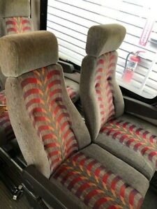 Commercial-Bus-Seats-Reclining-Pair-w-headrests-armrests-EXCELLENT-CONDITION
