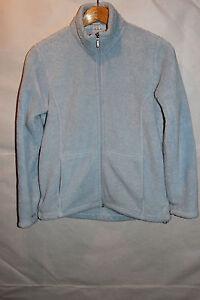 White Sierra Womens Size M Light Blue Thick Super Soft Fleece