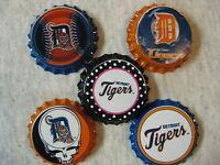 Detroit Tigers Scrapbooking Crafts Bottle Caps Set 3 - Magnets Badge Reels