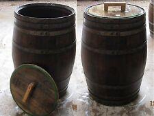 Regentonne Wasserfass 225L Holzfass Weinfass Eichenfass Stehtisch für Weinkeller