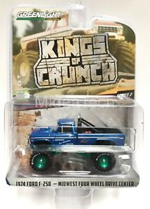 Greenlight-1974-Ford-F-250-Bigfoot-Monster-Truck-MIDWEST-49030A-1-64-Chase-Car