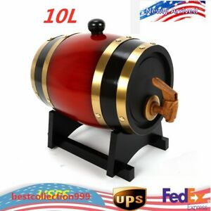 10L-Wood-Pine-Timber-Wine-Barrel-For-Whiskey-Rum-Port-Wooden-Keg-with-Stand