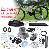80cc Bike Bicycle Motorized Motor 2 Stroke Cycle Silver Gas Petrol Engine Kit