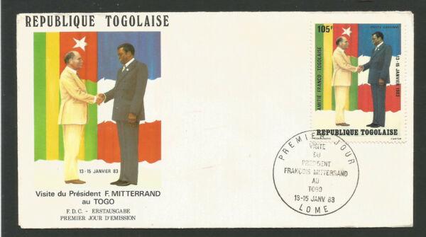 Candide Fdc 1er Jour République Togolaise 1983 Lomé Visite De François Mitterrand /l1734 Pratique Pour Cuire