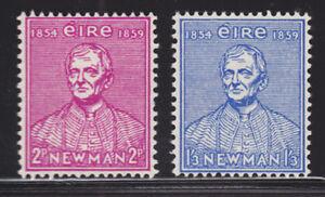 Ireland-Sc-153-154-MNH-1954-Cardinal-Newman-complete-set-F-VF