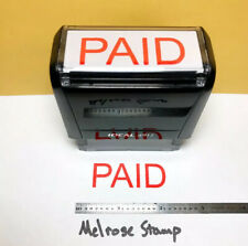 New Listingpaid Rubber Stamp Red Ink Self Inking Ideal 4913