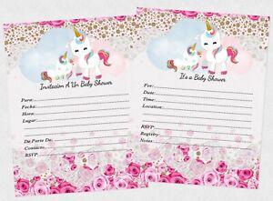 Details About Unicorn Invitations English Or Espanol Nina Invitaciones Girl Cards Birthday