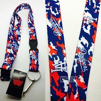 Mlb Los Angeles Dodgers Keychain Lanyard (camo Color)