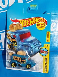 Hot Wheels New For 2017 Legends of Speed #70 Roller Toaster Blue