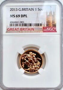 2013 Gold Sovereign MS69 DPL NGC BU COIN UK SOV High Grade Great Britain