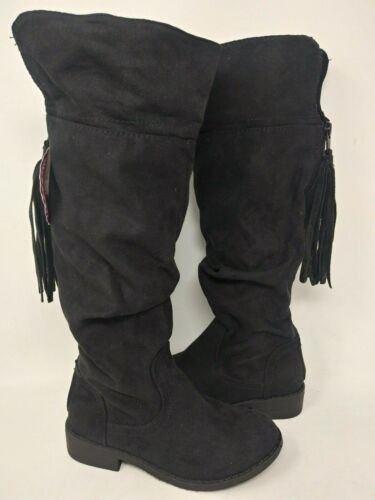 NEW SO Youth Girls Dixie Zip Tassel Suede Slouch Cowboy Blk #171312 192PQRS tr