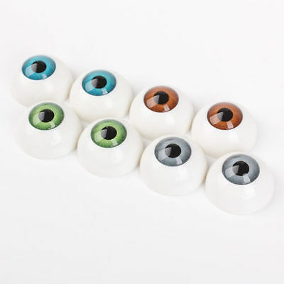 26mm 8PCS 4 Colors Half Round Acrylic Plastic Bear Animal Puppet Eyeball Doll