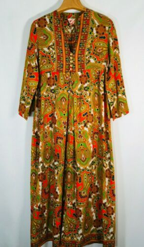 Keyloun Vintage Maxi Dress Saks fifth Ave Womens S
