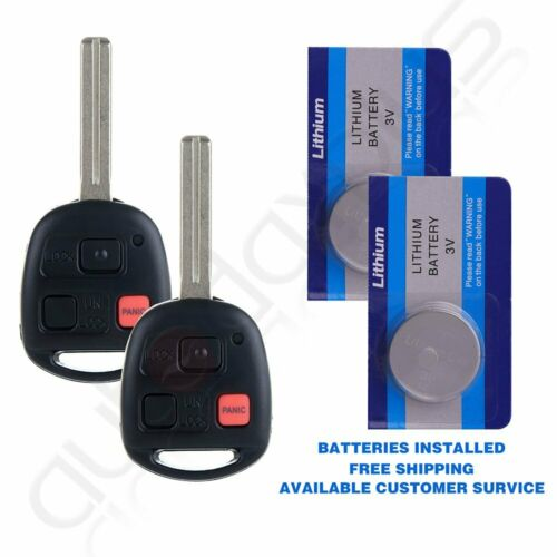 2* For 2005 2006 Lexus LX470 Keyless Entry Remote Key Short Blade Replacement