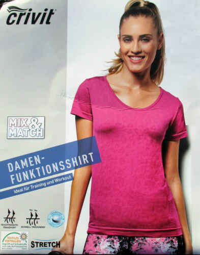 CRIVIT® Damen T-Shirt Funktionsshirt  Sport Outdoor Freizeit Training Workout