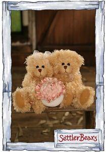 Settler Bears teddy bears -  Karin & John  23cm -  Brand New