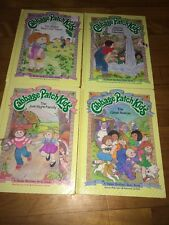 Lot Of 4 Vintage Cabbage Patch Kids Books HC Parker Brothers Story Book