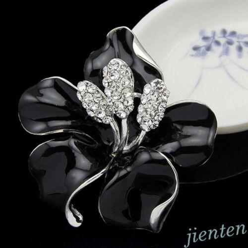 Women Rhinestone Crystal Wedding Bridal Bouquet Flower Brooch Pin Brooches New