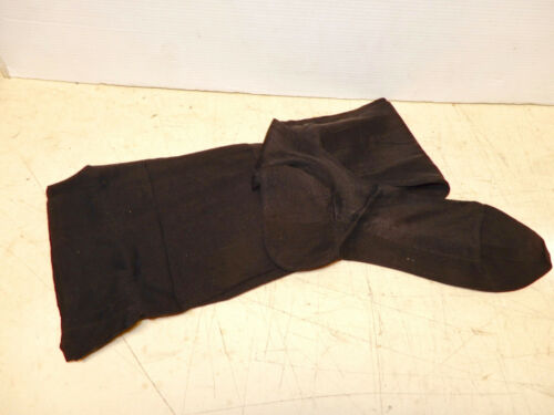 ANTIQUE BLACK WOMENS SILK STOCKINGS NOS 1930s