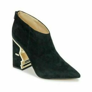 Katy-Perry-The-Gypsy-Women-Suede-Sculpted-Heel-Ankle-Booties-Size-US-11M-Black