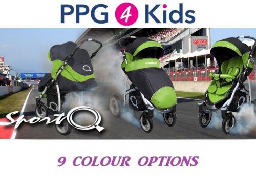 Poussette Poussette Bébé buggy 9 Couleurs Sport Q pratiques City roues pivotantes