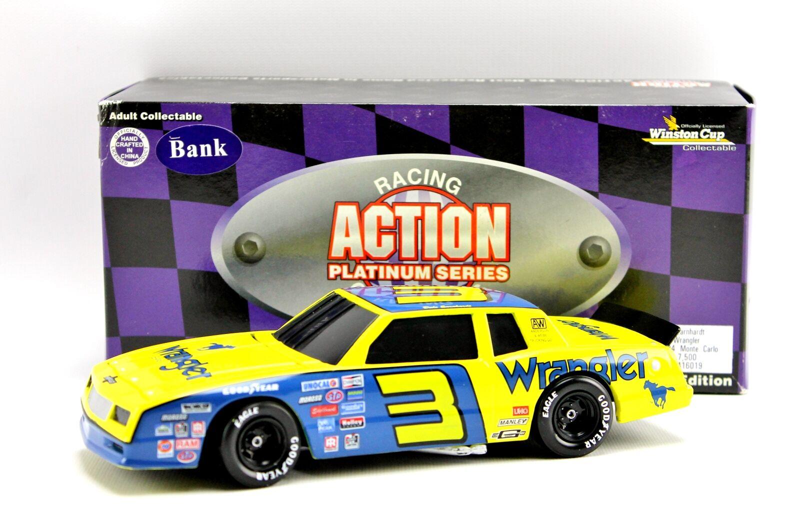 Earnhardt Sr Wrangler 1984 Monte Monte Monte Carlo Winston Cup Action Diecast Bank1 24 40e685