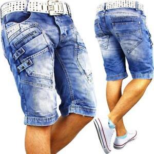 RedBridge-Cipo-Baxx-Herren-Shorts-Sport-hose-Jeans-Streetwear-Sweatpants-Capri