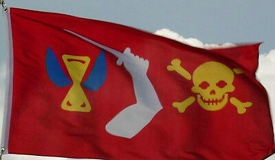 NEW 3X5ft CRIMSON PIRATE SKULL /& SWORDS FLAG better quality usa seller