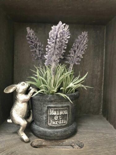 Finta Lavanda vaso PAL Hanger Argento Coniglietto Da Appendere Decorazione Animale