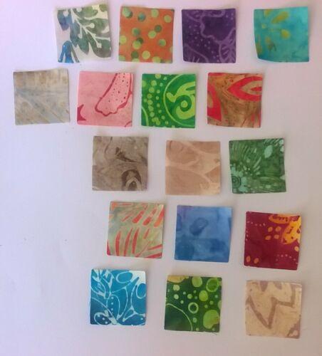 50 x 3.5 cm Batik Squares Fabric Scraps Pack restes Patchwork Bundle 100/% coton