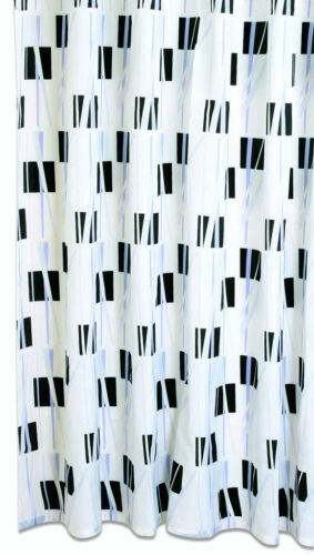 Duschvorhang Textil Textil-Duschvorhang Geo BxH 180x200cm schwarz weiß s//w