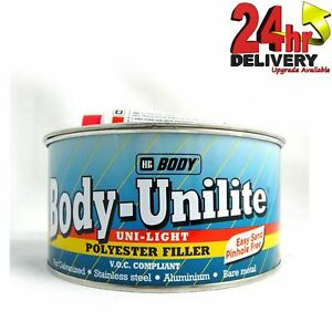 Details about HB Body 209 Unilite Light Weight Bare Metal 2K Car Body  Filler 1L - Also Wood