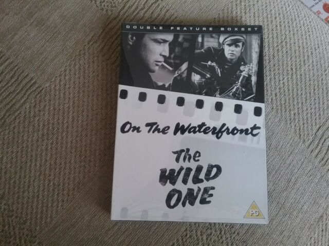 On The Waterfront/The Wild One (DVD, 2007, 2-Disc Set) new freepost