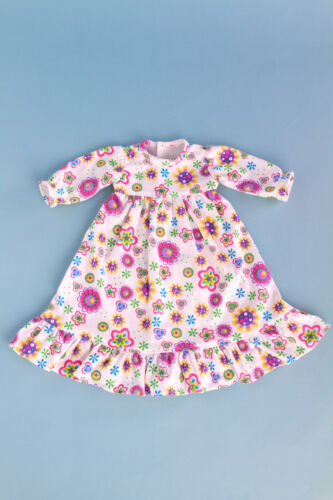 """Good Night Doll Clothes for 18/"""" American Girl Cotton Pajama Flowery Nightgown"""